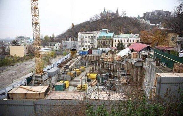 Место, где строят гостиницу на Андреевском спуске, Фото Ольги Балицкой