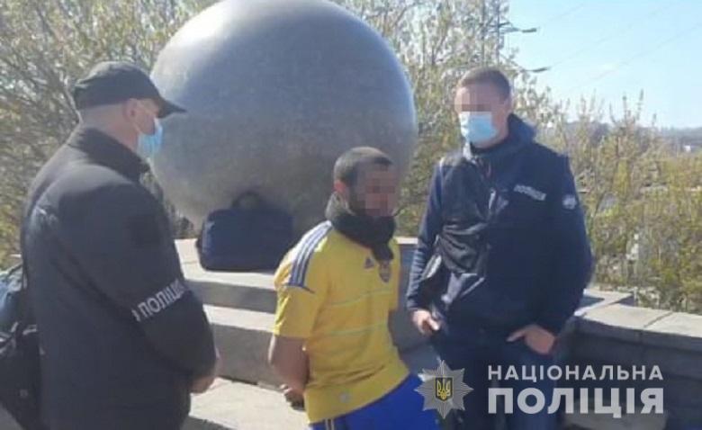 В Киеве поймали опасного преступника, Фото полиции