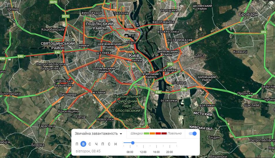 Пробки Киев онлайн: текущая ситуация с движением в городе, - КАРТА, фото-4