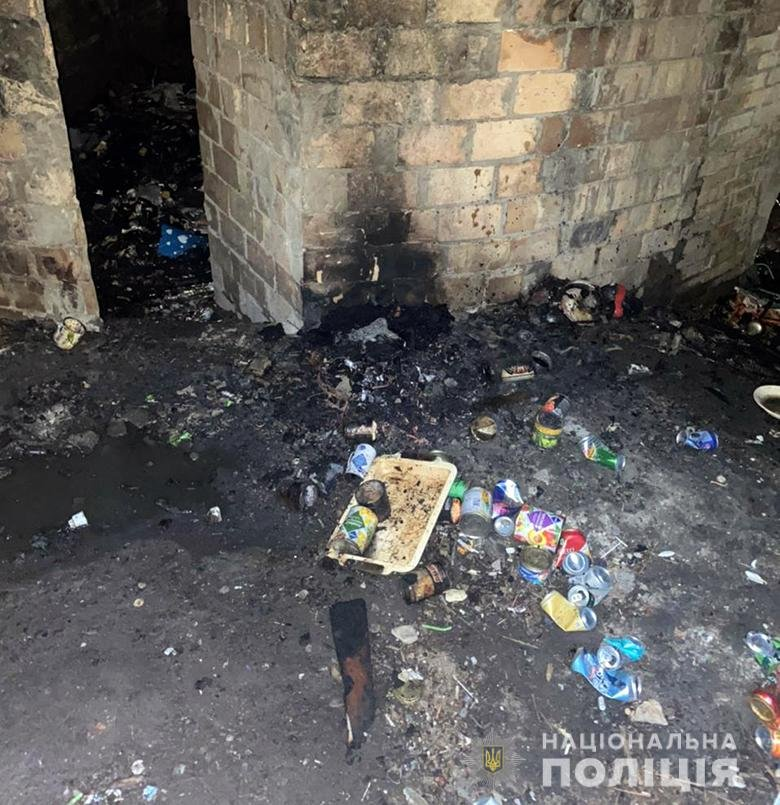 В Киеве двое мужчин избили и подожгли обидчика ребенка., Фото полиции