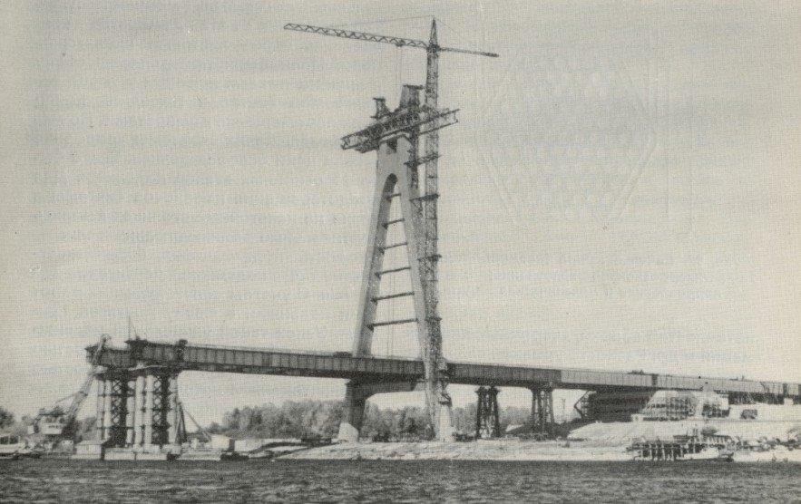 Строительство Северного моста, фото: Клуб коренного киевлянина