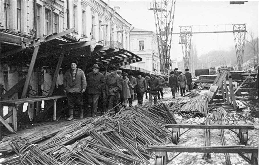 Строительство метро на улице Сагайдачного, фото: Мир Метро