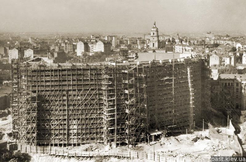Строительство МИДа, фото: retroua