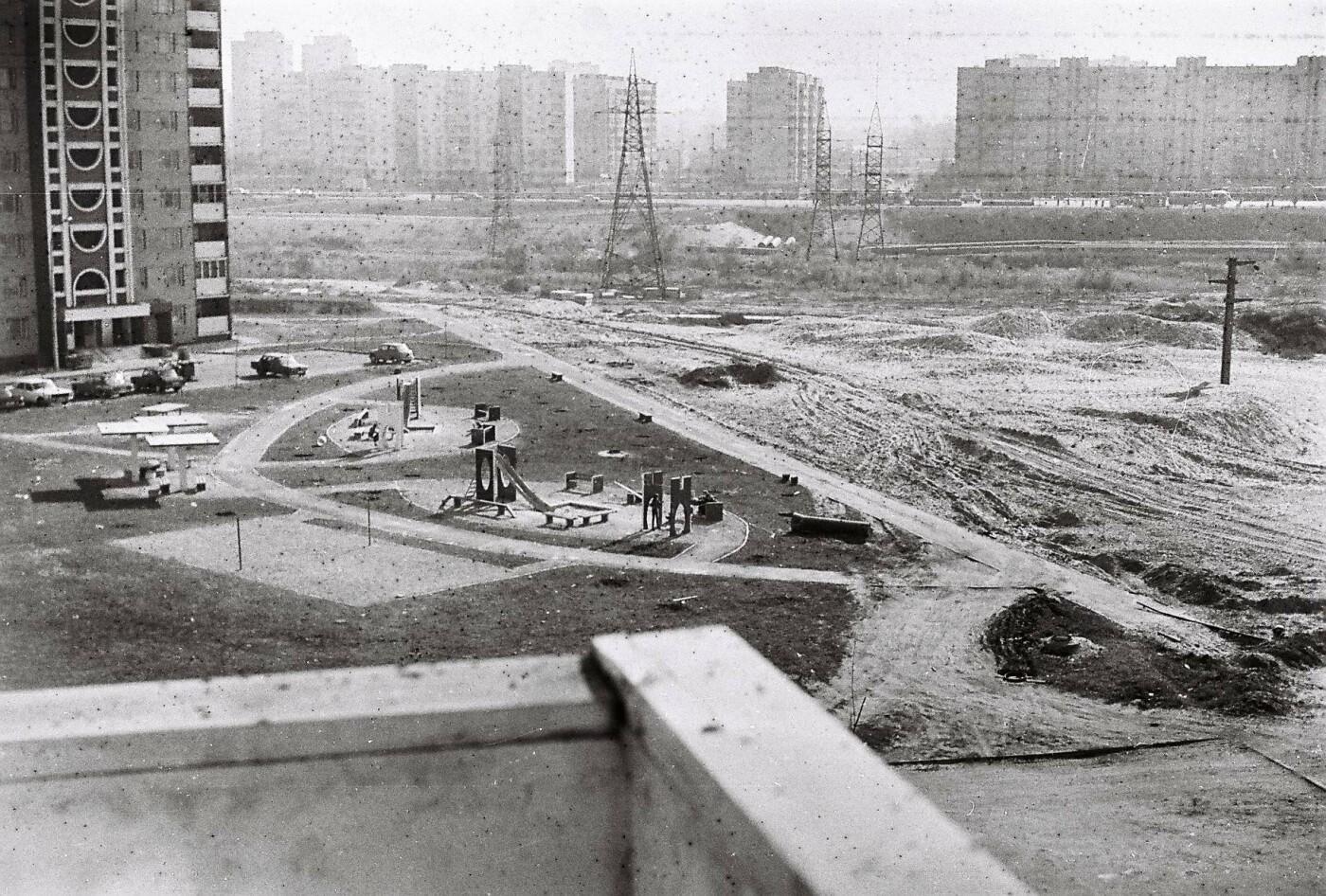 Строительство Троещины, фото: Клуб коренного киевлянина. Архив Николая Вороны