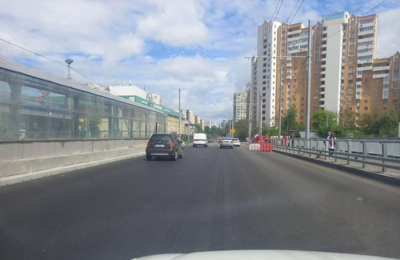 Часть моста в сторону центра уже открыли, Facebook Киев Автомобильный