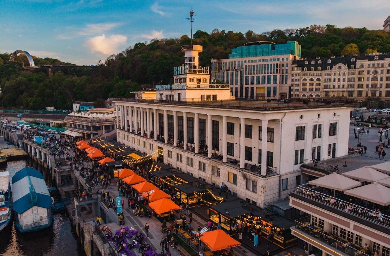 Киевский речной вокзал, фото: речной вокзал