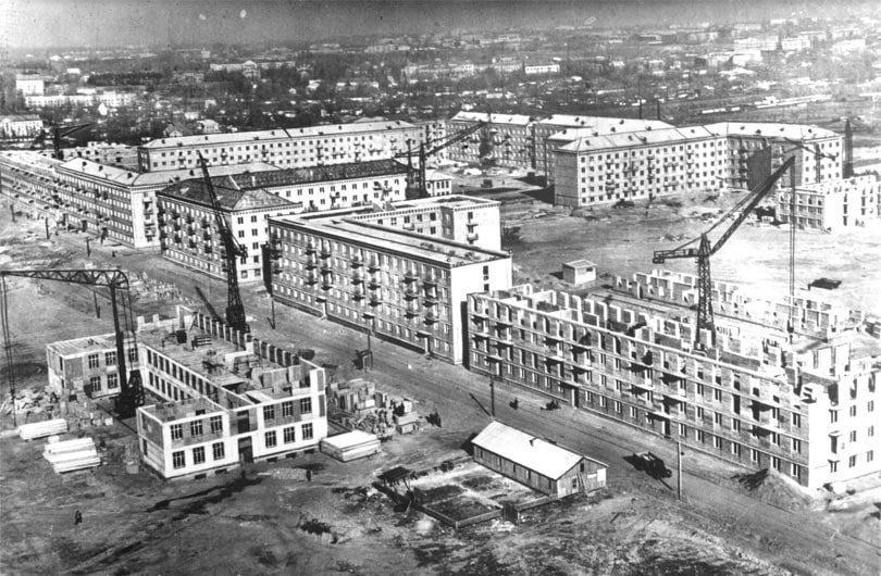 Строительство Чоколовки, жилмассив и 149 школа, фото: Клуб коренного киевлянина