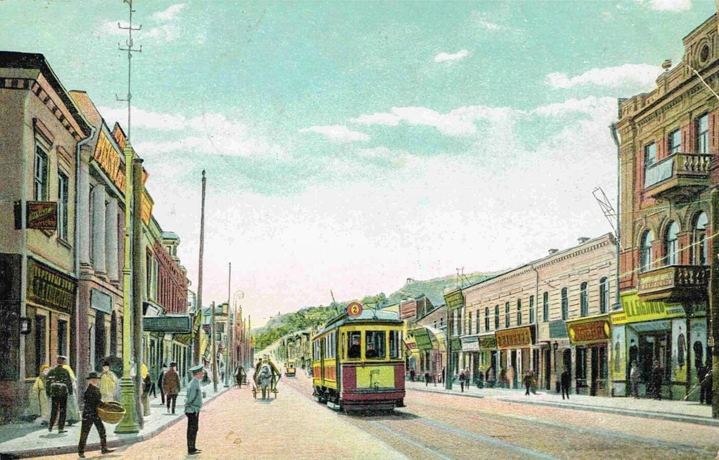 Ул. Сагайдачного в 19 веке. Особняк виден слева, Фото: Википедия