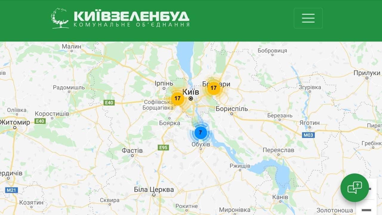 Где в Киеве обустроили зоны для безопасного пикника, Скриншот