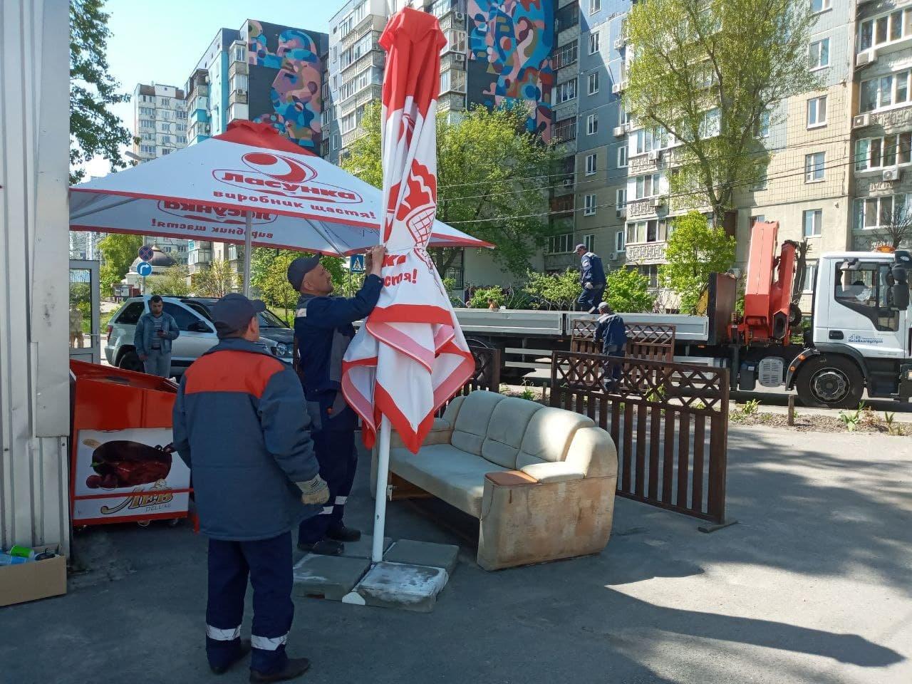 Ликвидация МАФов в Киеве, Фото: КМДА