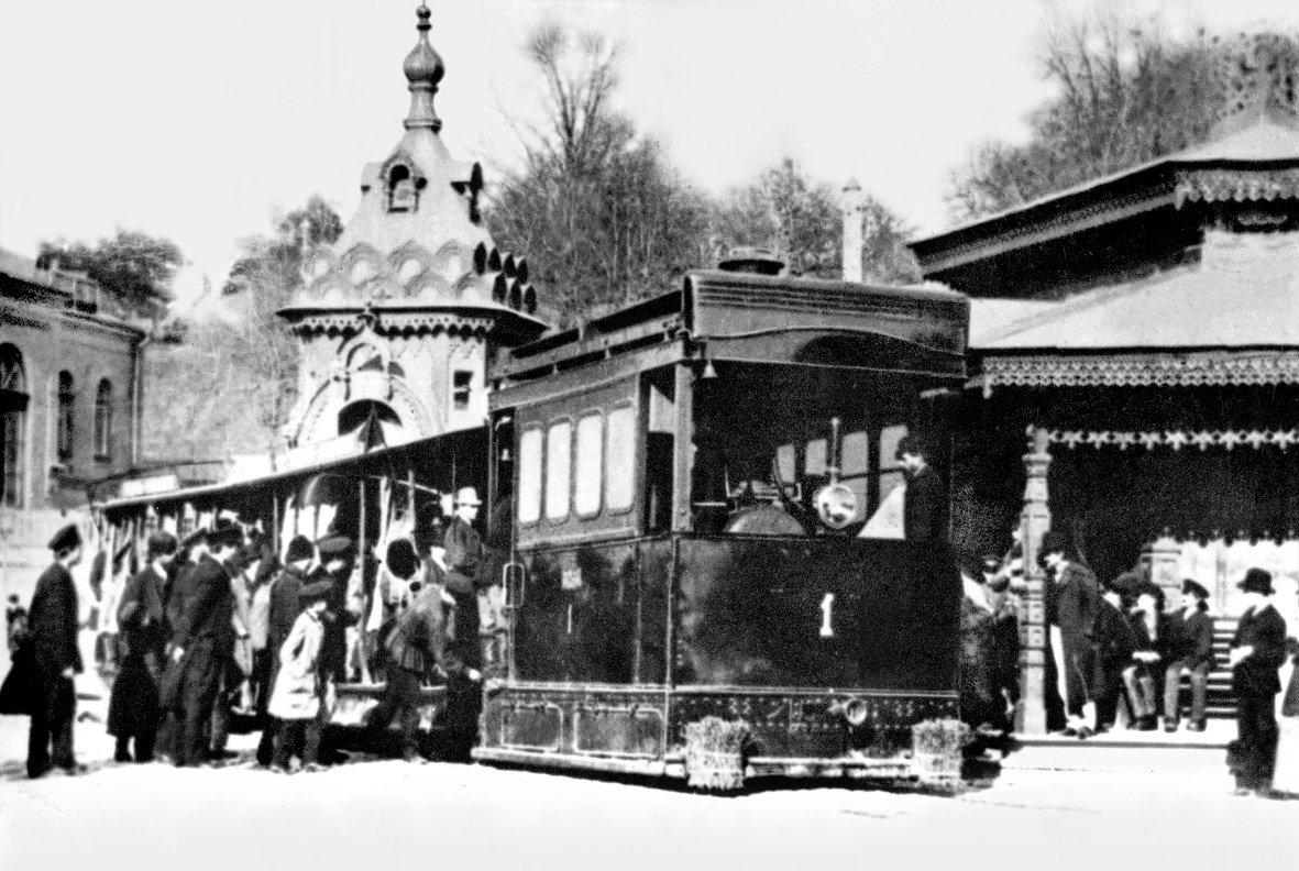 Паровой трамвай в Киеве, Фото: Википедия
