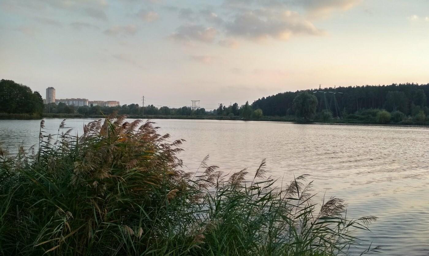 Пляж на одном из озер в Святошинском районе Киева