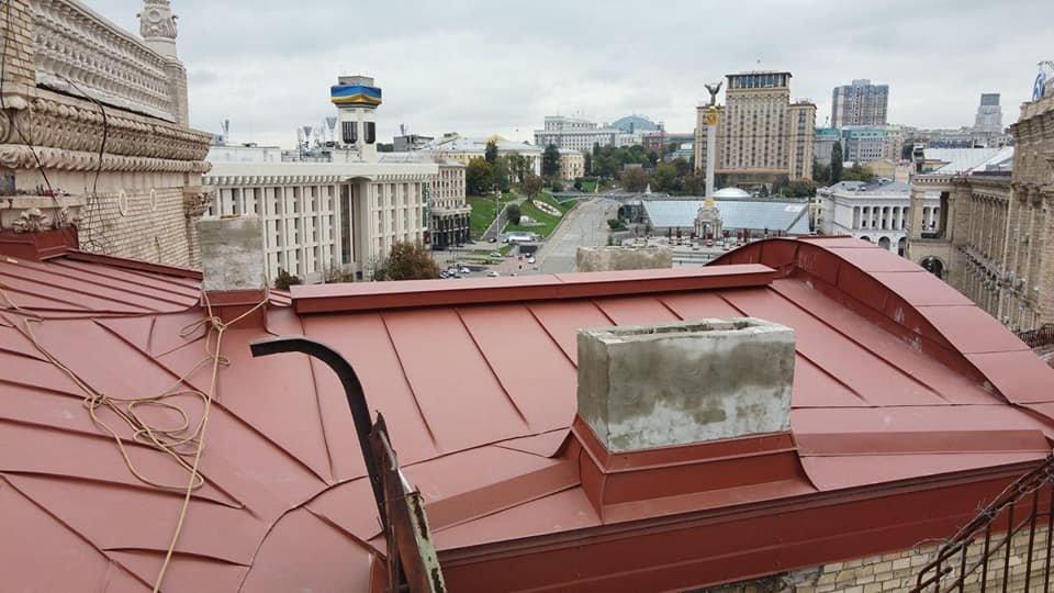 Строительные работы на Софиевской, 1