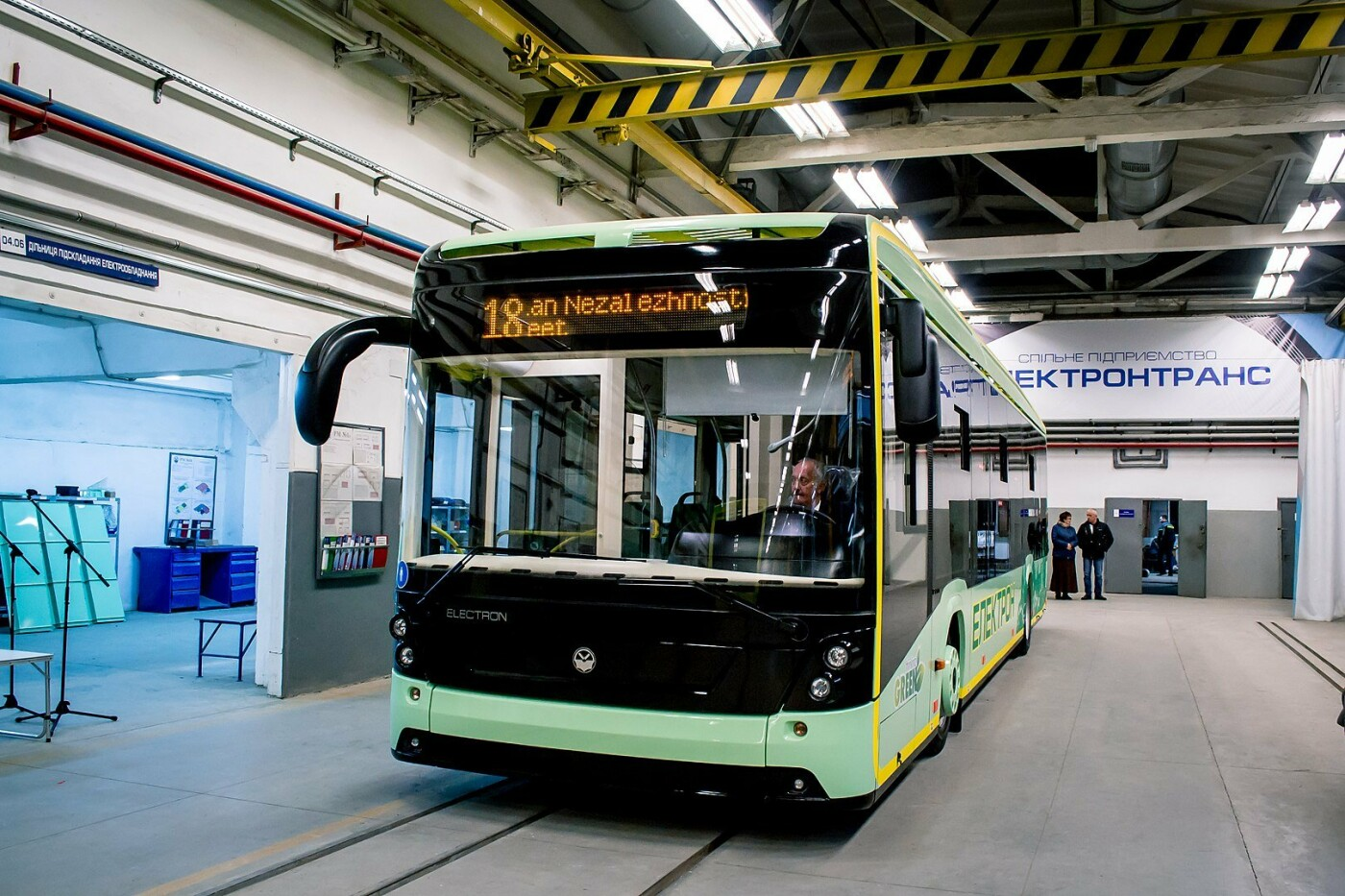 Львовский электробус в Киеве