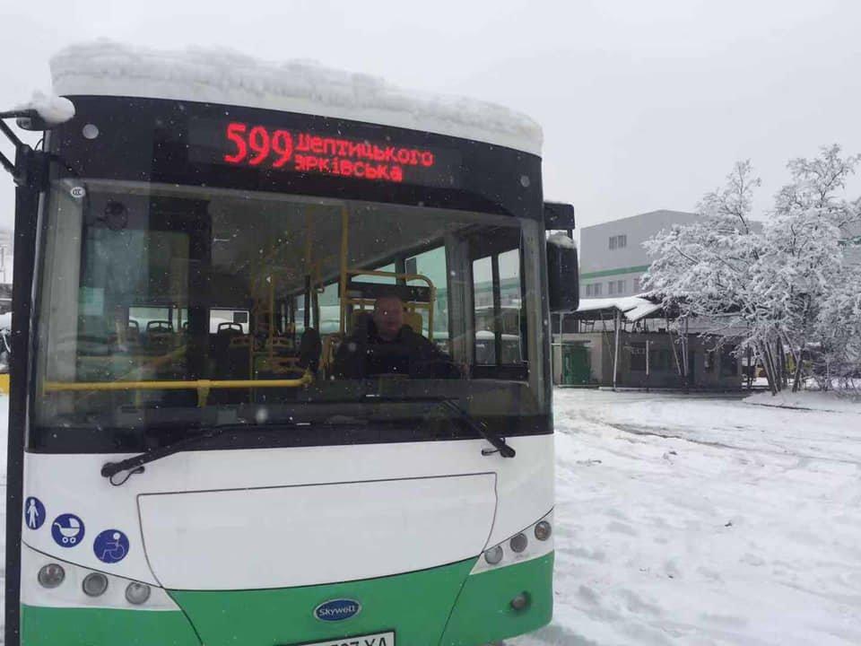Китайский электробус в Киеве