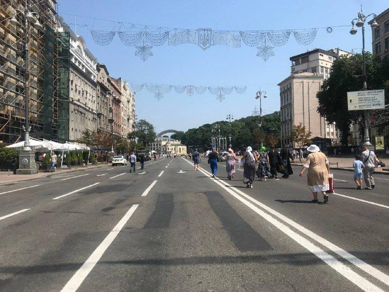 Движение в центре Киева перекрыто