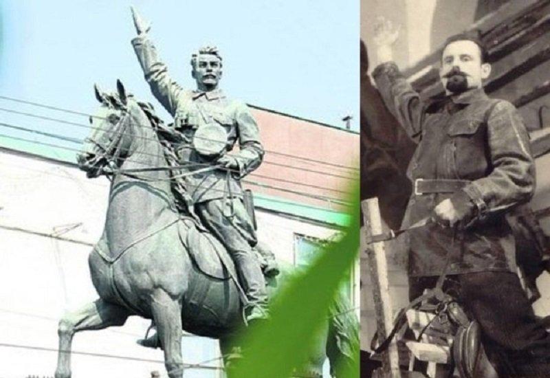 Памятник Щорса и Леонид Кравчук