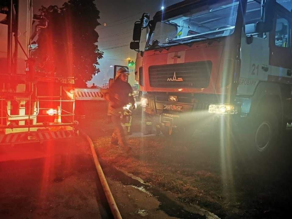 Пожар в городе Бровары