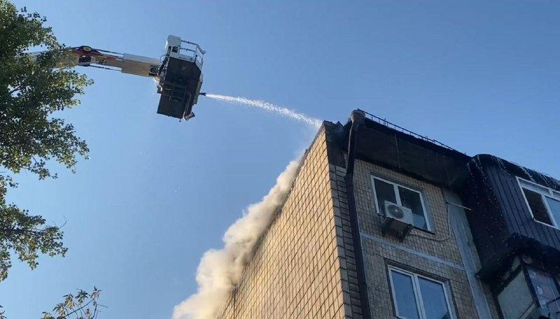 В Голосеевском районе горел 5-этажный дом