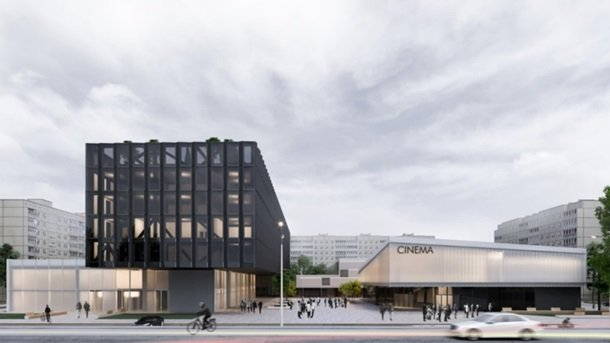 Визуализация нового здания вместо кинотеатра Загреб