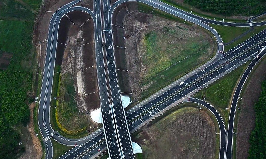 Полтавская развязка на трассе Киев Харьков