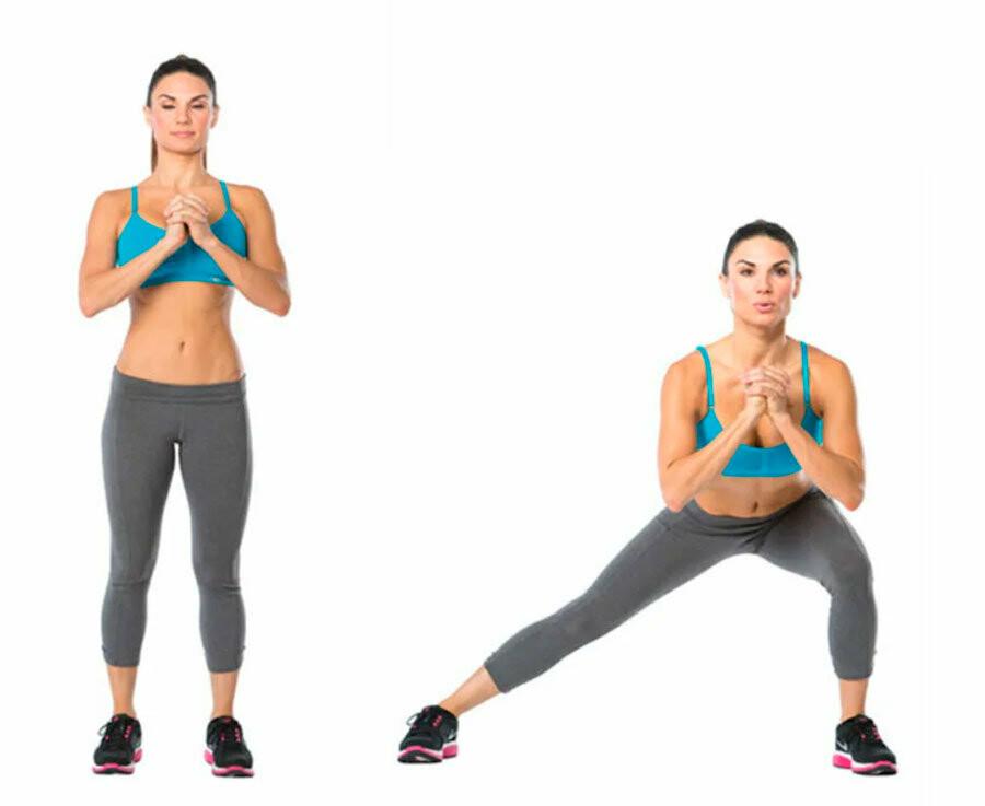 Упражнения боковые выпады в сторону